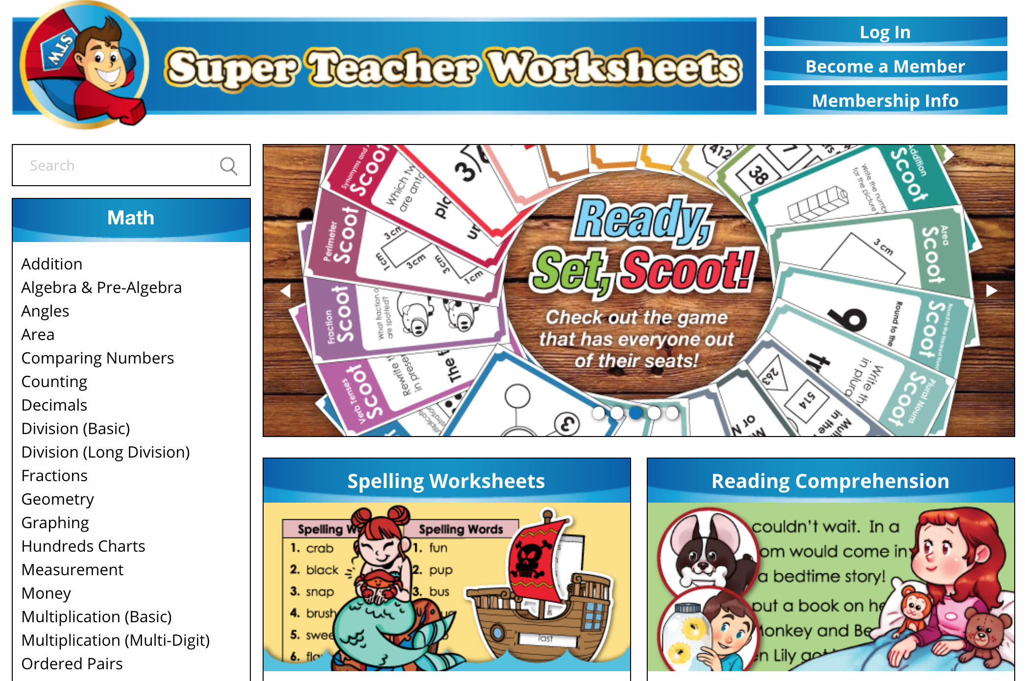 Super Teacher Worksheets For Free